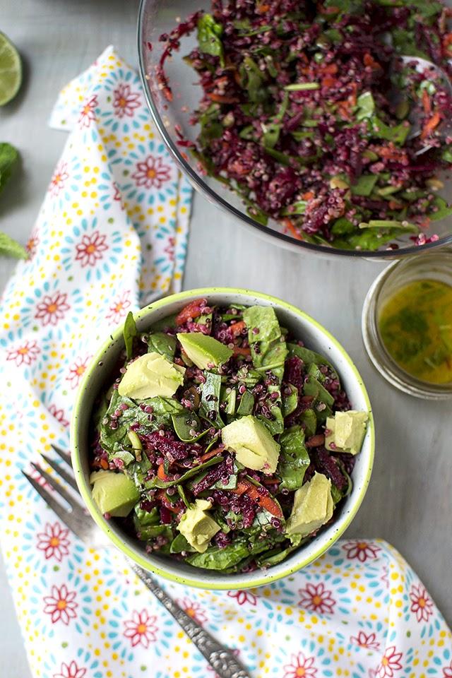Colorful Beet & Quinoa Salad