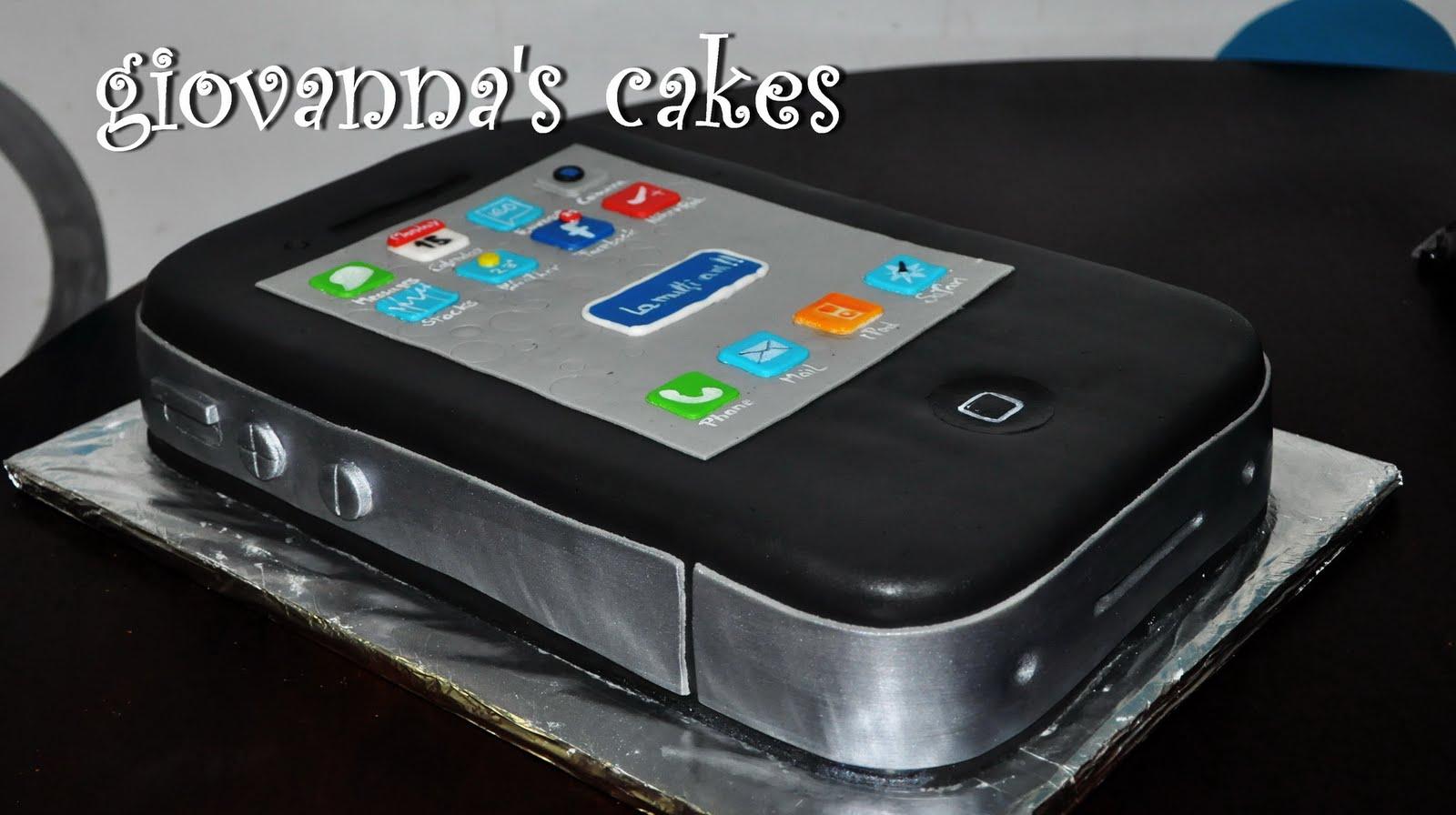Giovanna S Cakes Iphone 4 Birthday Cake