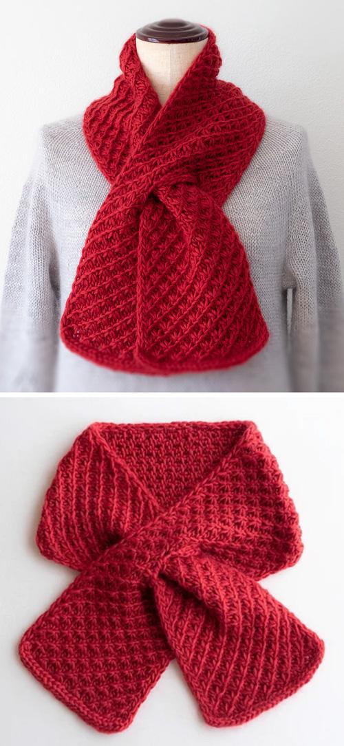 Cherry Pie Scarf - Free Knitting Pattern