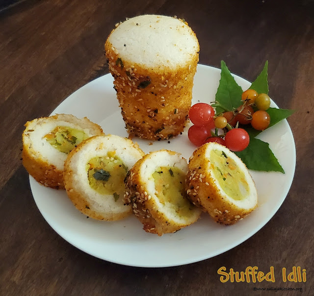 images of Stuffed Idli / Potato Stuffed Idli Recipe / Aloo Stuffed Idli