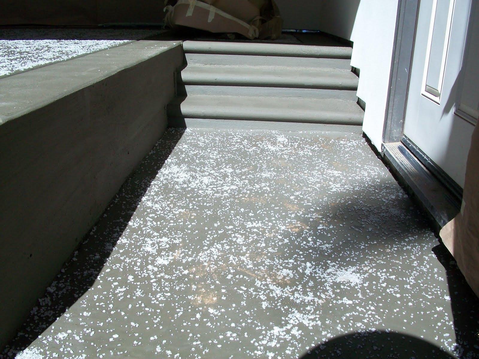 D Amp R Construction Rock Salt Finish Concrete