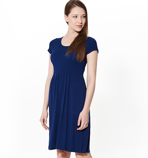 Cap Sleeved Slim Fit Dress