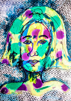 Breaking the Glass ceiling | Abstract Portrait by Miabo Enyadike