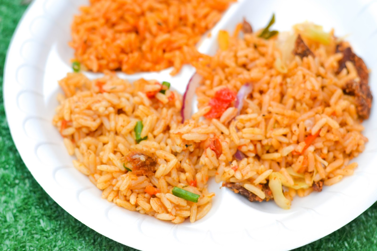 Party Jollof Rice, Suya Jollof Rice and Coconut Jollof Rice