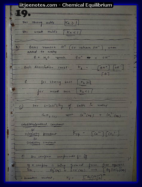 Chemical Equilibrium Notes IITJEE5