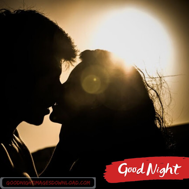 Romantic kiss image good night for Lovers