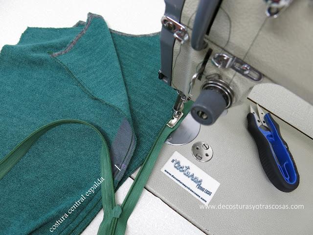 zipper invisible colocación