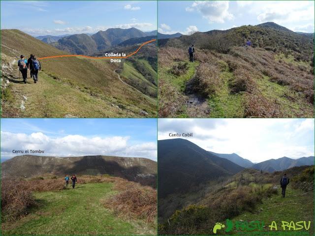 Senda del Chorrón y Foz del Río Valle: Bajando de Cerro el Tombu y camino al Cantu Cobil