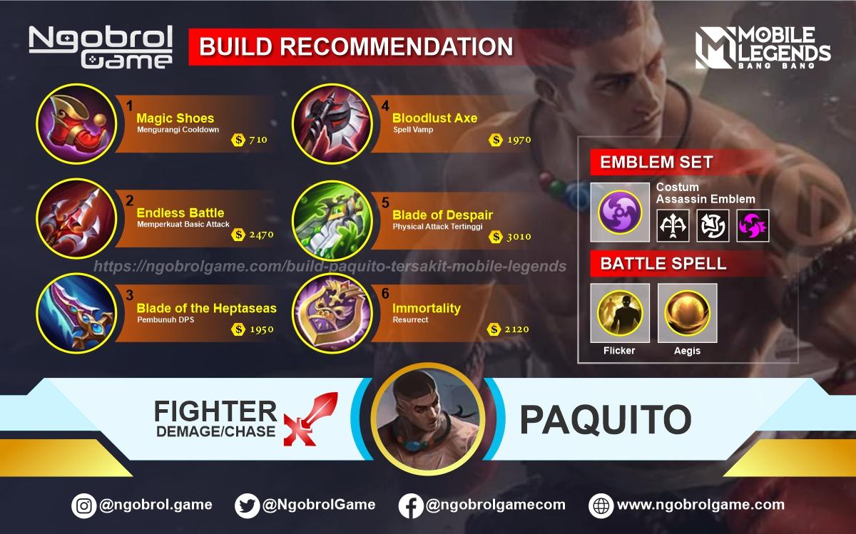 Build Paquito Savage Mobile Legends