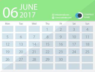 june 2017 timetable calendar