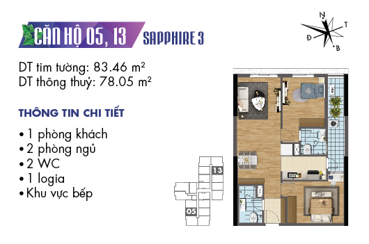 Căn hộ 05 13 Sapphire 3