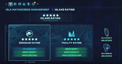 Stars Rating Guide, Jurassic World Evolution