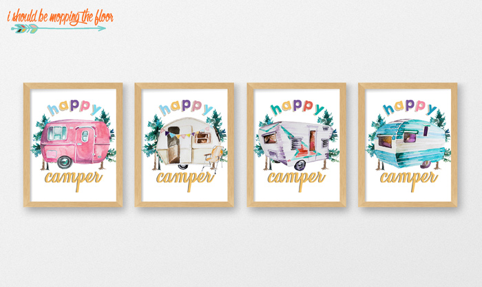 Vintage Happy Camper Printables