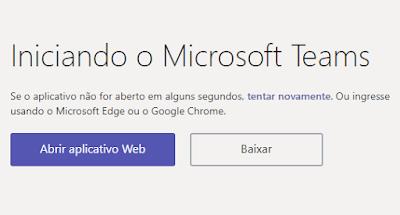 Baixando e criando uma conta gratuita do Microsoft Teams