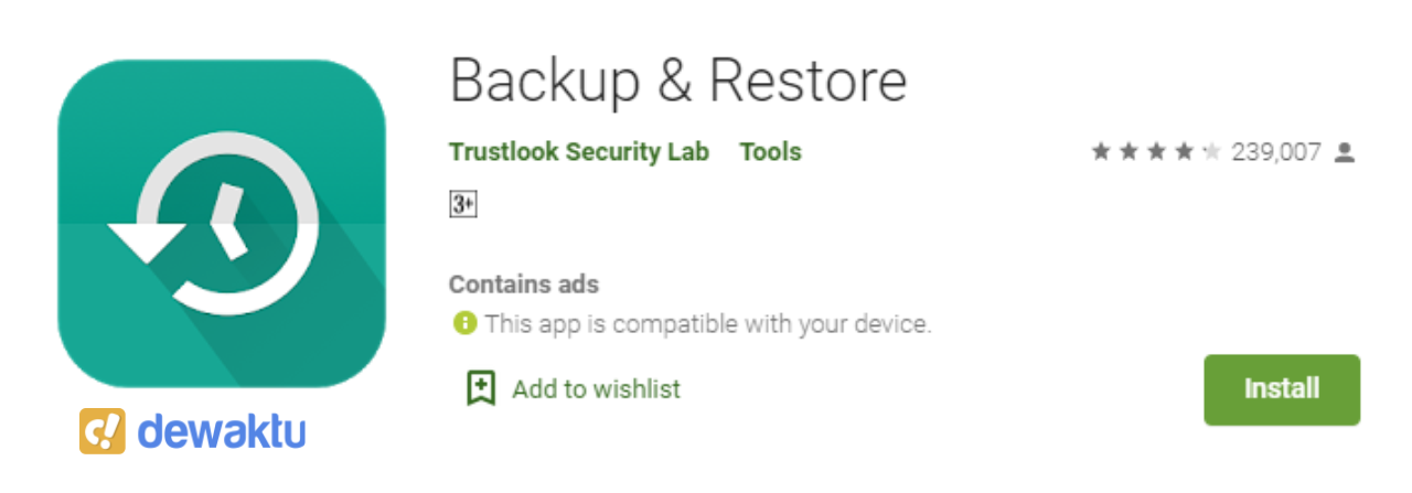 Aplikasi Backup Data Android