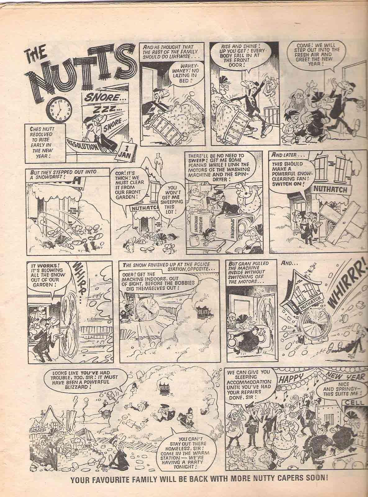 The Nutts página dibujada por Nadal para la revista Buster