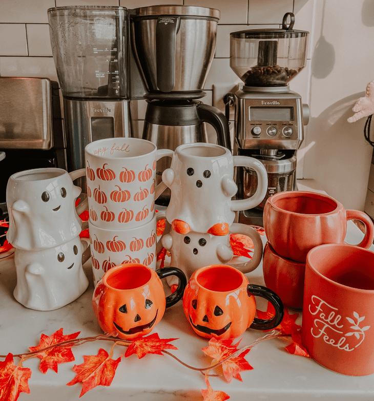 Halloween mugs target — target halloween mug — best halloween mugs — target threshold ghost mug — Target pumpkin mug —  halloween ghost mug