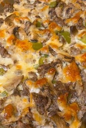 Best Keto Low-Carb Philly Cheese Steak Casserole Recipe