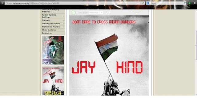 Pakistan Army site and Facebook pages compromised by Indian hacker Godzilla