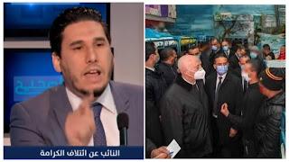 نضال السعودي  :زيارة قيس سعيد لسجن المرناقية سابقة خطيرة في تونس  و ما يحدث في البرلمان جزء من مخطط كبير من قيس سعيد و عبير موسي لممارسة الفوضى والعربدة