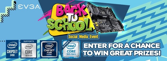 EVGA Back To School Social Media Event Giveaway  ( Worth Over : $2049)