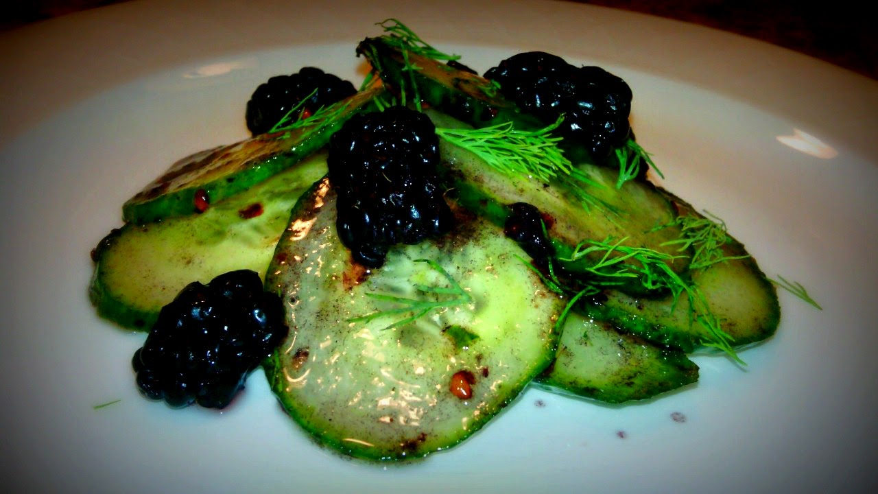 Cucumber Salad with Blackberry Browned Butter Vinaigrette