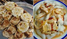 วิธีทำกล้วยปิ้งราดน้ำกะทิมะพร้าวอ่อน (สูตรโบราณ) หอมหวานมัน มีประโยชน์ต่อร่างกาย