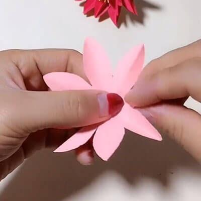 3D paper flower bouquet 3