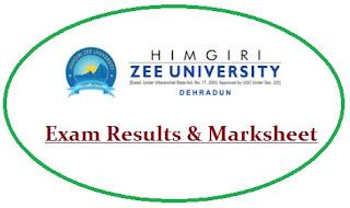 HZU Dehradun Results 2020