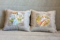 Вышивка для диванной подушки