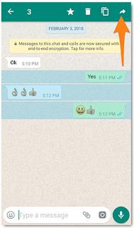 Cara meneruskan pesan di WhatsApp ke daftar kontak lain