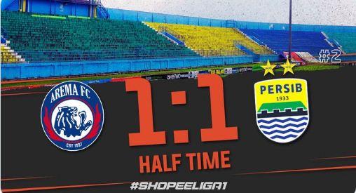 HT: Arema FC vs Persib Bandung 1-1 Highlights