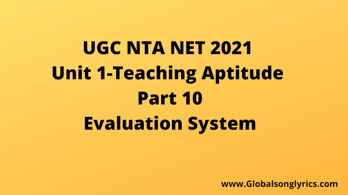UGC NTA NET 2021 | Evaluation System | Part-10 |