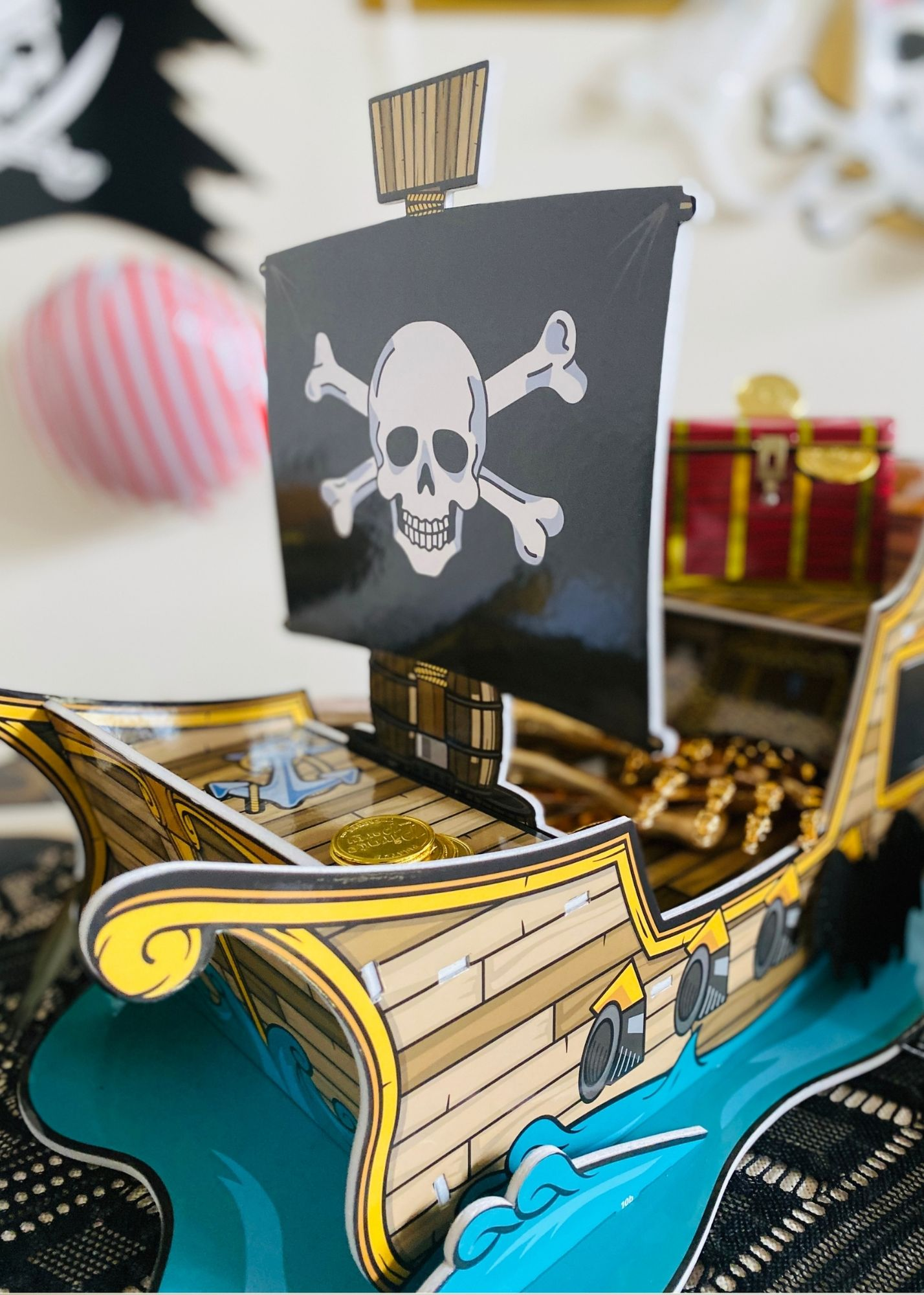 Pirate party cupcake stand