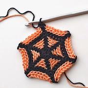 Crochet mini spider web