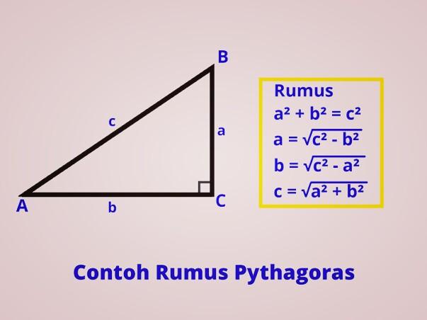 contoh perhitungan menggunakan rumus Phytagoras