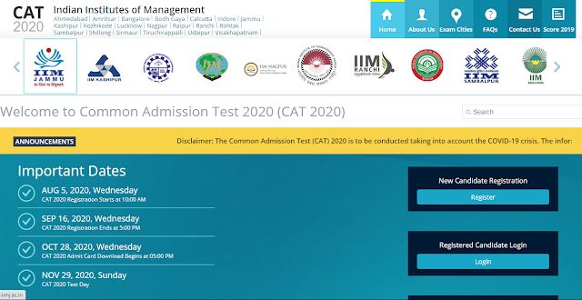 IIM CAT 2020 Online Application Form