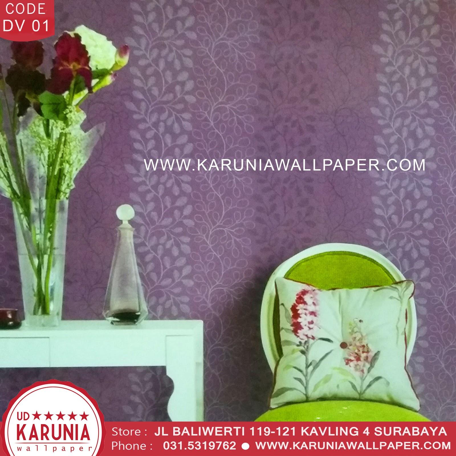 jual wallpaper dinding ungu