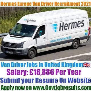 Hermes Europe Van Driver Recruitment 2021-22