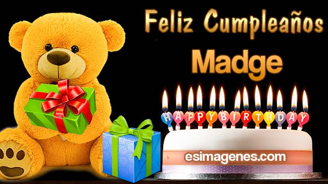 Feliz Cumpleaños Madge
