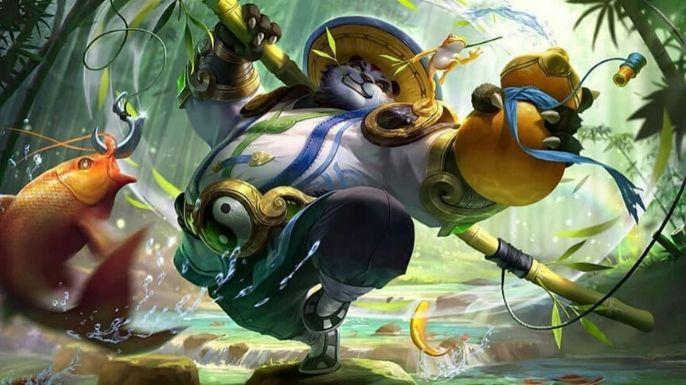 Uma bela imagem do herói panda Akai