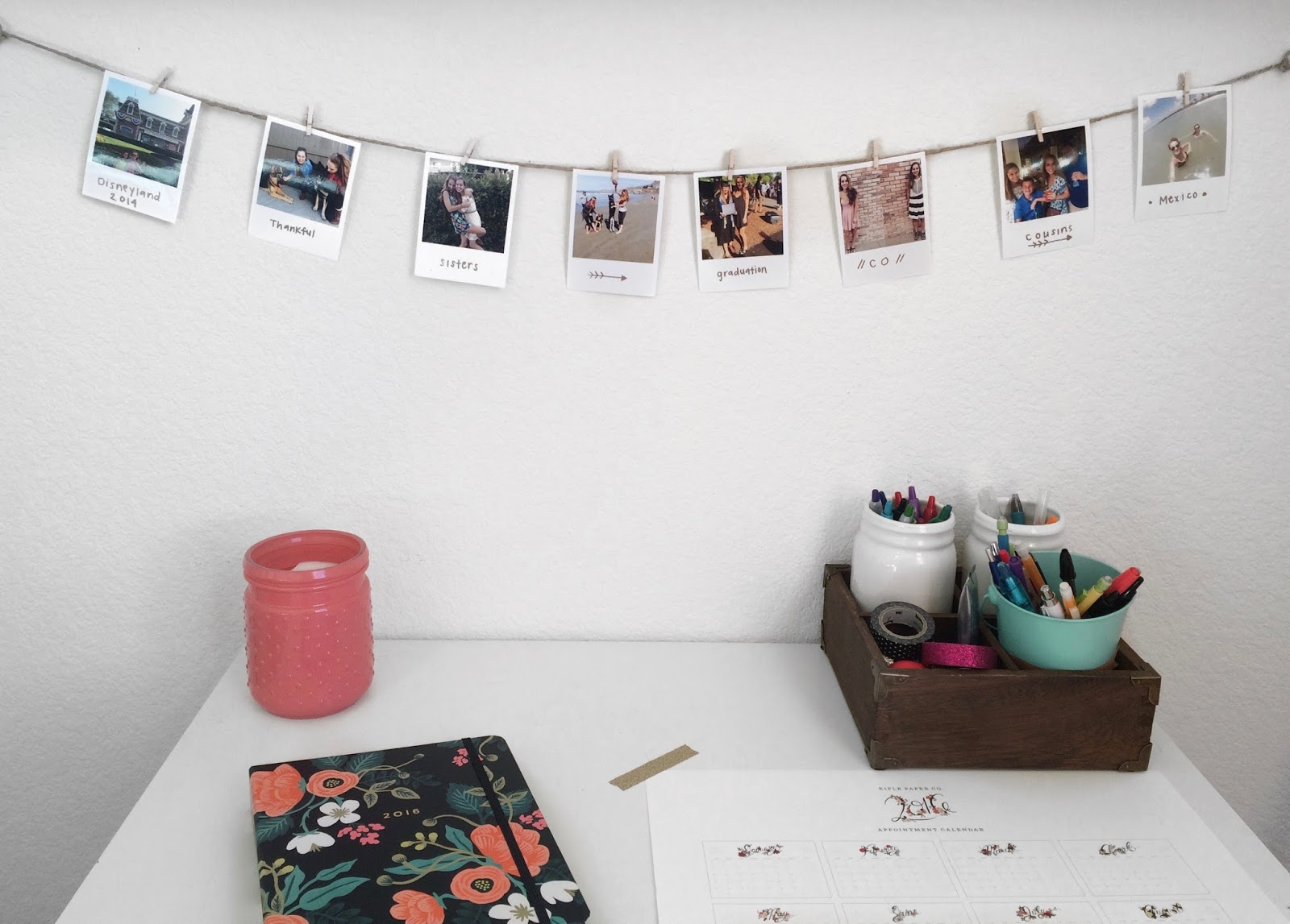 diy polaroid wall decor miss olivia says