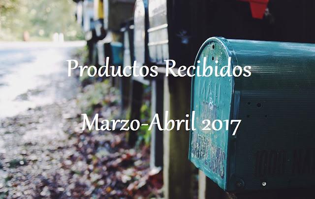 Productos Recibidos Marzo-Abril 2017