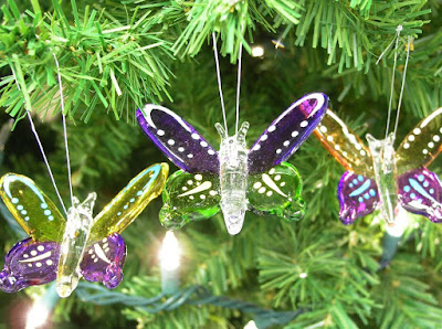 glass butterfly christmas ornaments