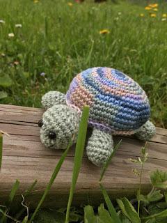 teknős, horgolt teknős