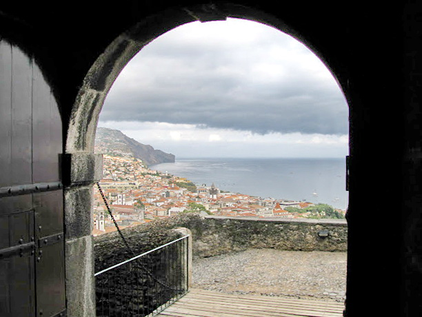 view from a fortress