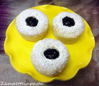 Muffin con albumi e marmellata - Muffin di albumi