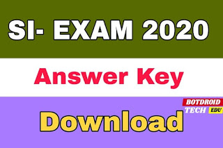 tnusrb si exam 2020 answer key download