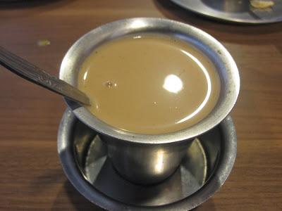 Madras New Woodlands Restaurant, masala tea