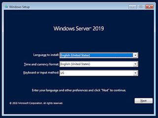 Install Windows Server 2019